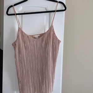 H&M Pink Pleated Cami